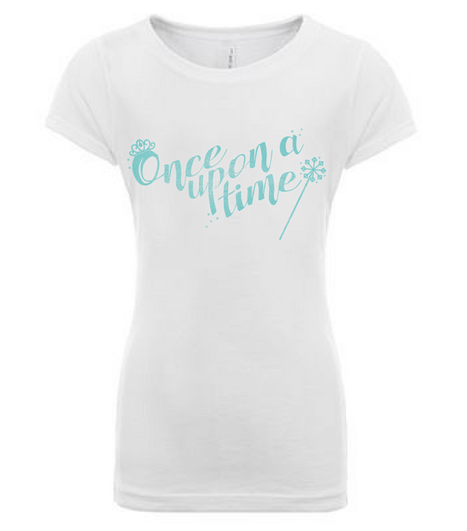 Preprinted Girls Long Tee-Words Once Upon A Time