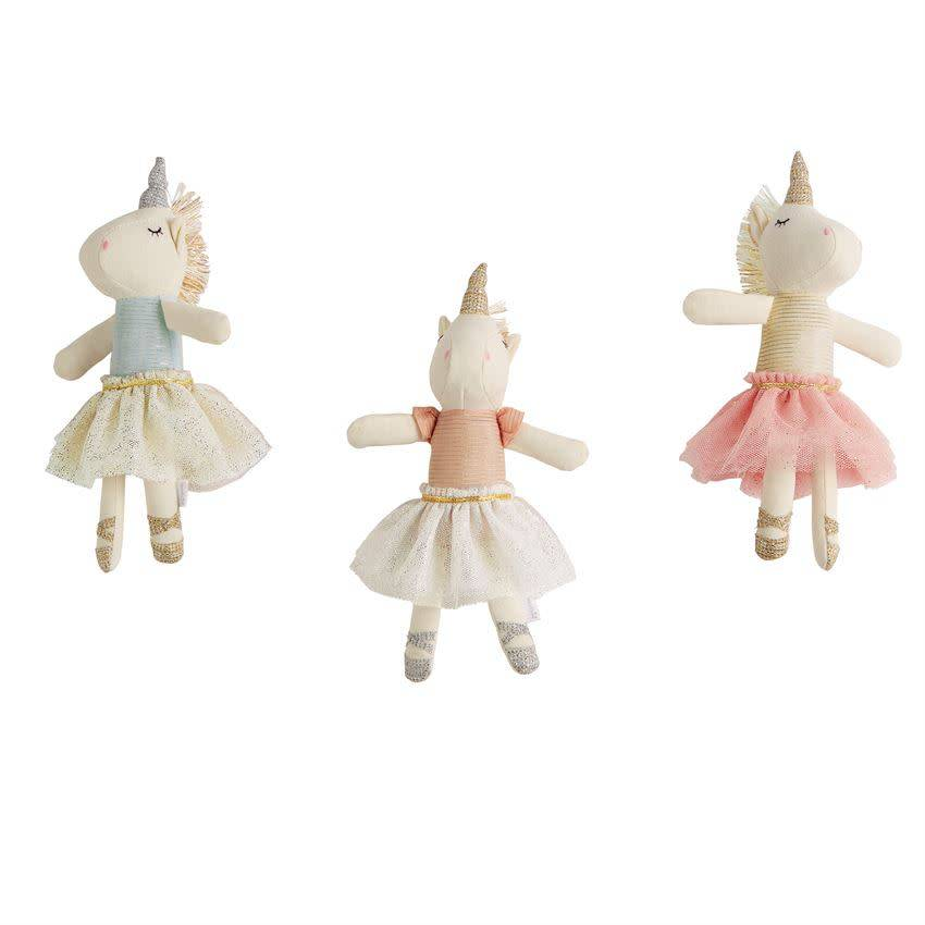 White Pink Top Unicorn Rattle