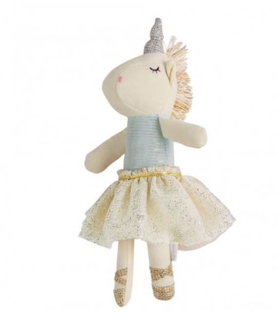 Blue Top Unicorn Doll