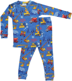 Goodnight Construction Site - Boys Two-Piece Pajamas and Book Set