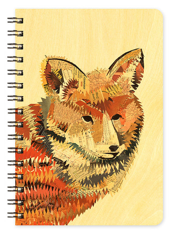 Wooden Jotter Red Fox