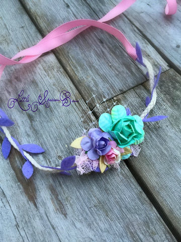 Lavender Fields Floral Halo Mint
