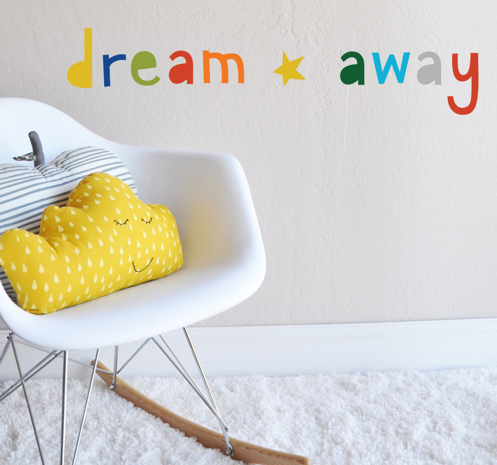 Dream Away Bright Wall Decal