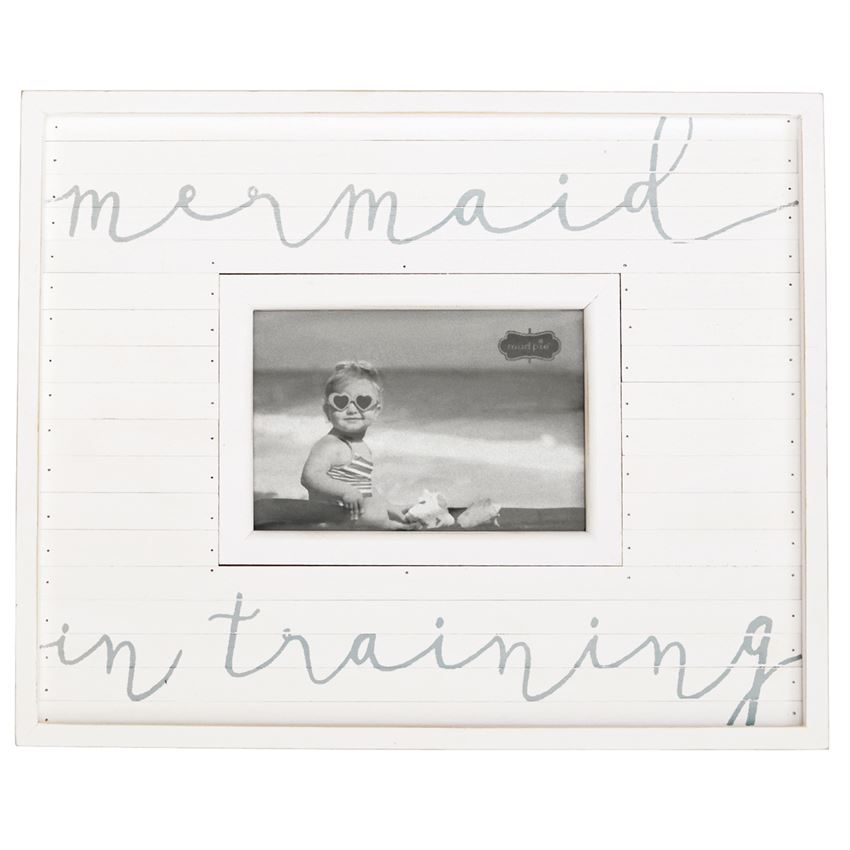 Whitewash Mermaid in Training Picture Frame