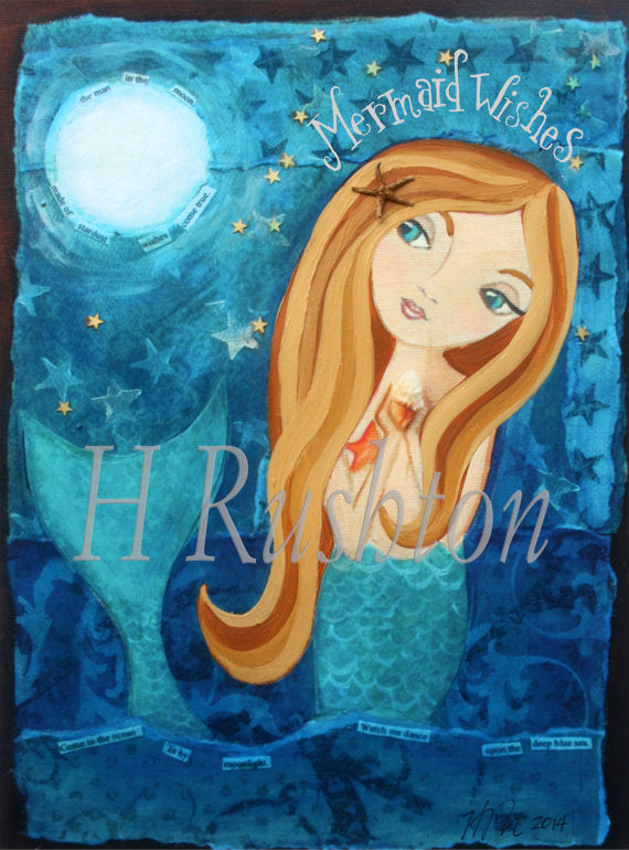 Mermaid Wishes Wall Art