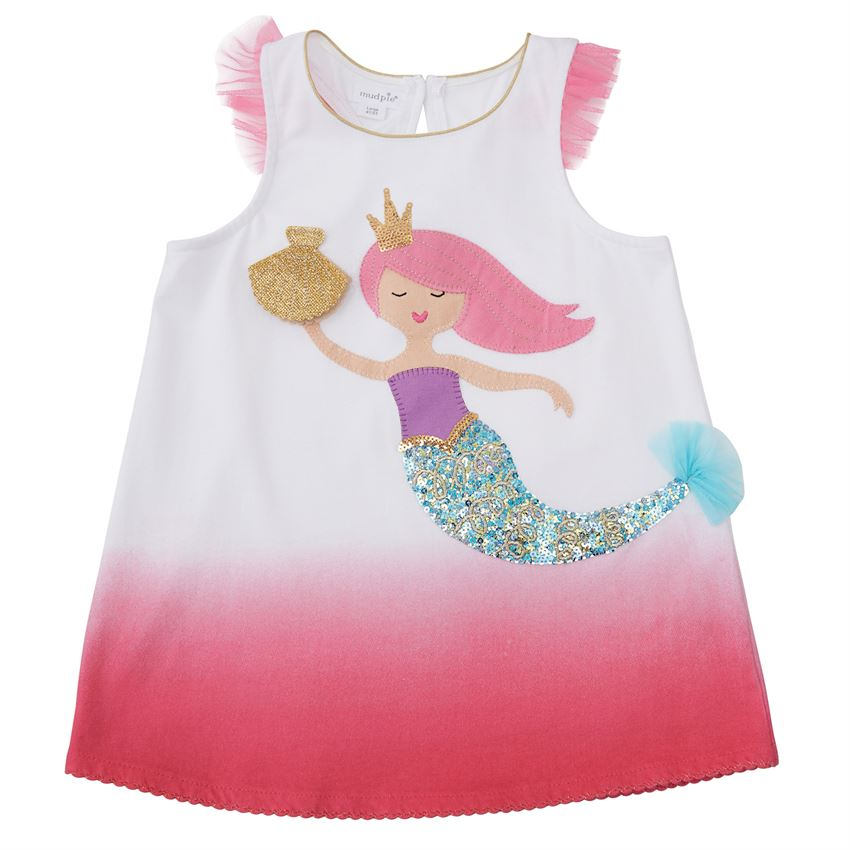 Pink Mermaid Applique Tunic Top