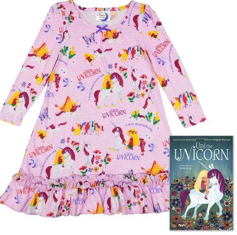 Uni the Unicorn Nightgown and Book Set