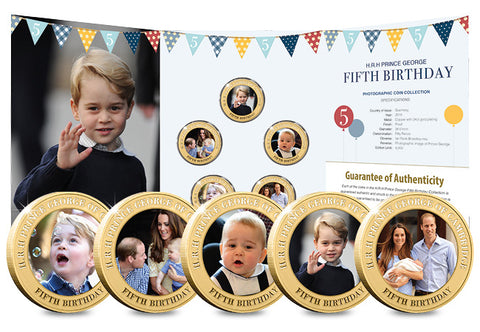 Prince George's Fifth Birthday Photographic Coin Set