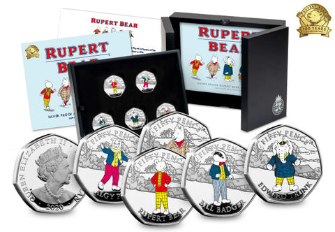 The Rupert Bear Silver Proof 50p Collection