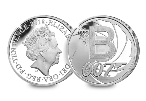 2018 UK 'Bond' Silver Proof 10p