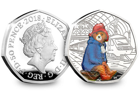 UK 2018 Paddington at the Station Silver Proof - The Westminster Collection International