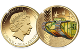 The WWI Mk I Tank Gold-plated Coin - The Westminster Collection International