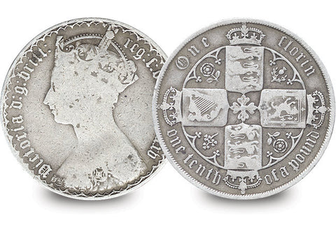 Queen Victoria Gothic Silver Florin - The Westminster Collection International