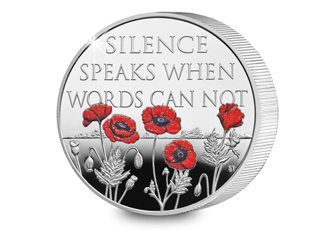 UK 2017 Remembrance Day Silver Piedfort £5