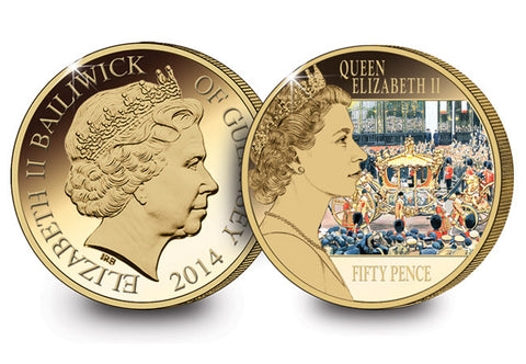 The Reflections of a Reign Coronation Coin - The Westminster Collection International