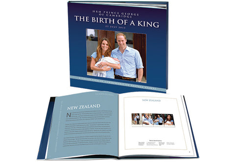 'The Birth of a King' Prince George Ltd Edition Philatelic Book - The Westminster Collection International