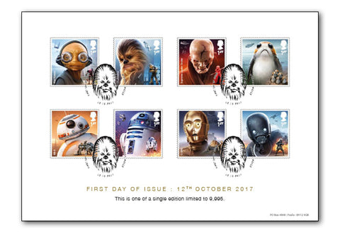 STAR WARS Stamps Collector Card - The Westminster Collection International