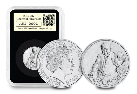 DateStamp 2015 Churchill Fine Silver Coin - The Westminster Collection International