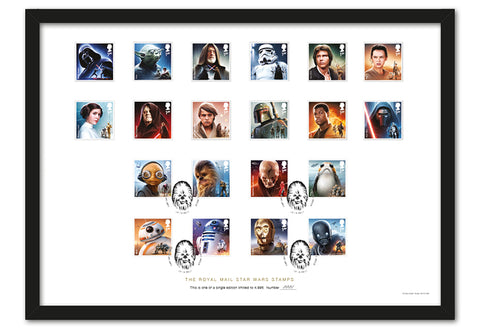 STAR WARS Stamps A3 Framed Collector Card
