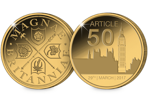 The Article 50 Gold-Plated Commemorative