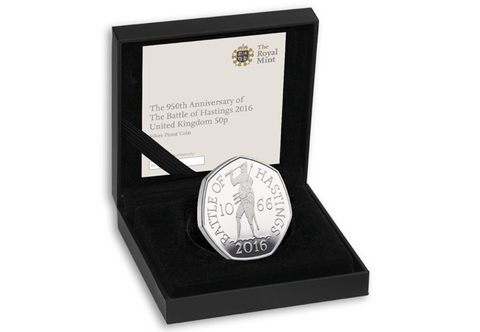 The 2016 Battle of Hastings Silver Proof 50p - The Westminster Collection International