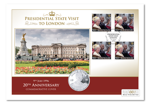 South African Presidential State Visit Silver Coin Cover - The Westminster Collection International