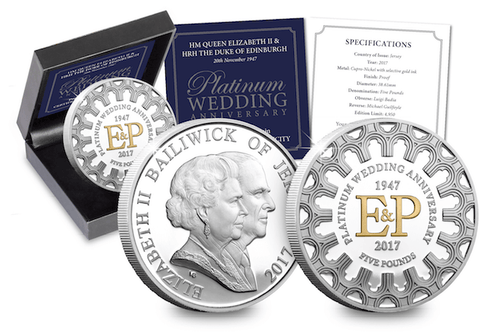 The Platinum Wedding Five Pound Proof Coin - The Westminster Collection International