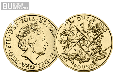 2016 UK 'Last Round Pound' CERTIFIED BU £1