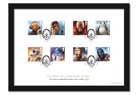 STAR WARS Stamps Framed Collector Card