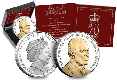 Prince Philip 70 Years of Service £5 Coin