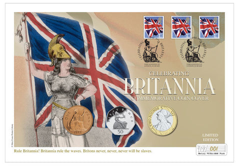 Celebrating Britannia Commemorative Coin Cover - The Westminster Collection International
