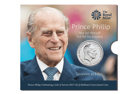 UK 2017 Prince Philip £5 BU Pack