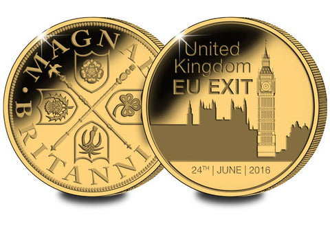 The BREXIT Gold-Plated Commemorative - The Westminster Collection International
