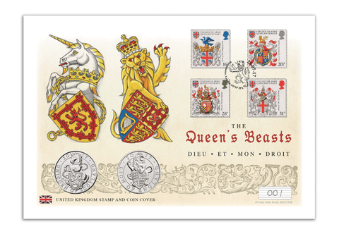 The Queen's Beasts Double UK Coin Cover