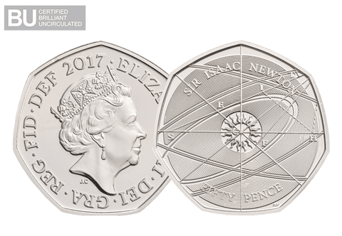 2017 UK Isaac Newton CERTIFIED BU 50p