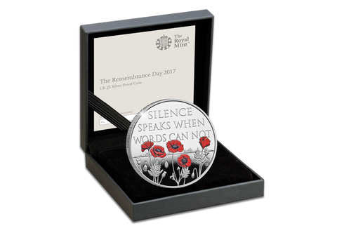 UK 2017 Remembrance Day Silver Proof £5 Coin