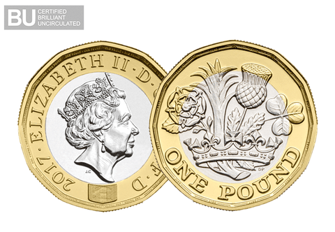 2017 UK Nations of the Crown CERTIFIED BU £1