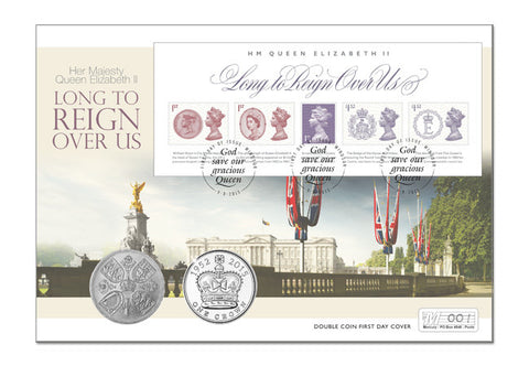 Longest Reigning Monarch Double Coin Cover - The Westminster Collection International