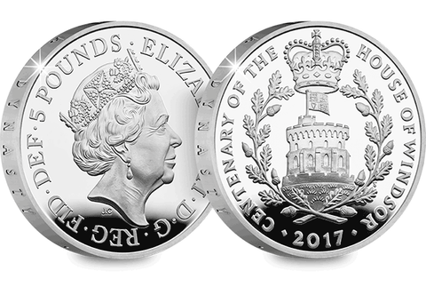 UK 2017 House of Windsor Silver Proof £5