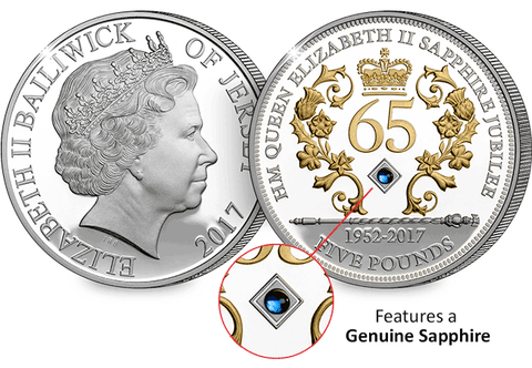 The Sapphire Jubilee £5 Silver Proof Coin