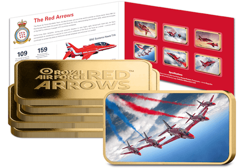 Red Arrows 2017 Gold-Plated Ingot Collection - The Westminster Collection International
