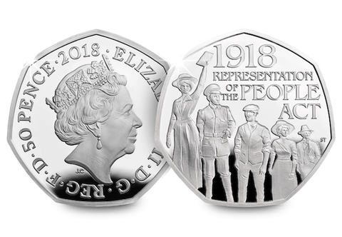 UK Representation of the People Act Silver 50p - The Westminster Collection International