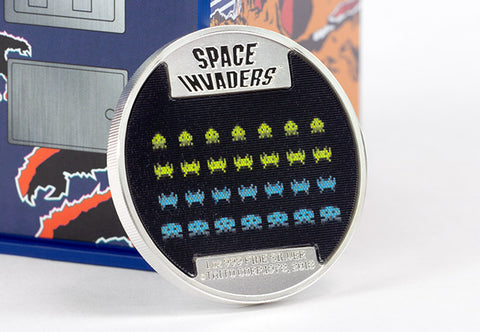 The Space Invaders Silver Proof Lenticular Coin - The Westminster Collection International