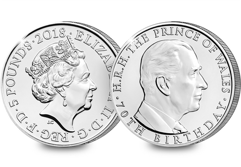 2018 UK Prince Charles 70th CERTIFIED BU £5 - The Westminster Collection International