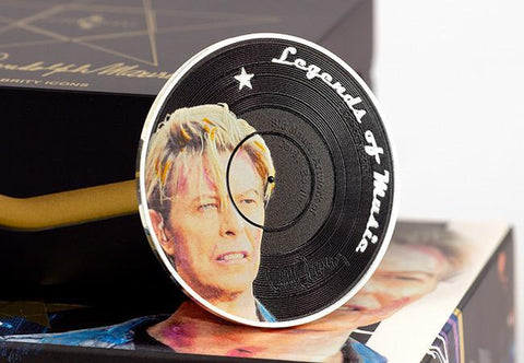 The Music Legends David Bowie Silver 1oz Coin - The Westminster Collection International