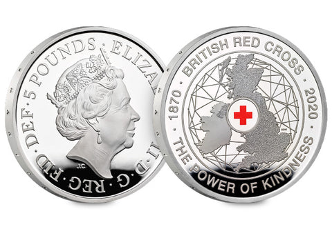 UK 2020 British Red Cross Silver Proof £5 Coin