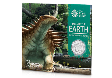 UK 2020 Hylaeosaurus 50p BU Pack