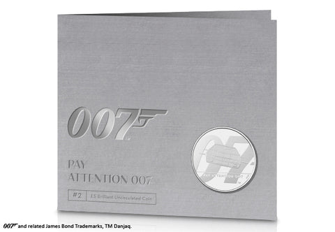 UK 2020 Pay Attention 007 £5 BU Pack (Bond 2)