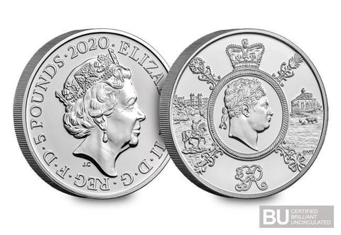 2020 UK King George CERTIFIED BU £5 - The Westminster Collection International