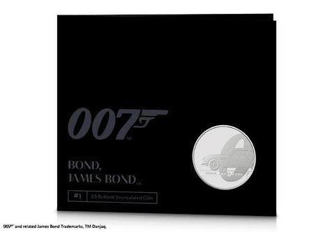 UK 2020 James Bond £5 BU Pack